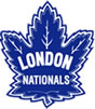 "Logo for London Nationals Jr. ""B"" Hockey Club"